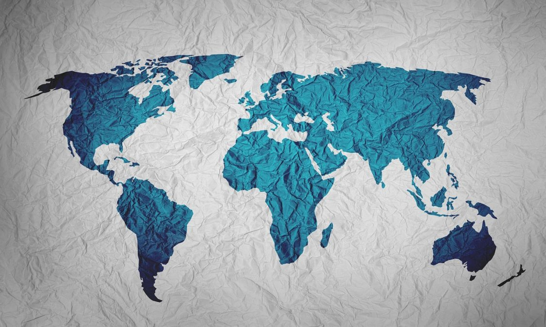 map of the world, background, paper