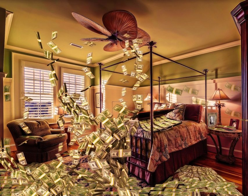 room, money, dollar