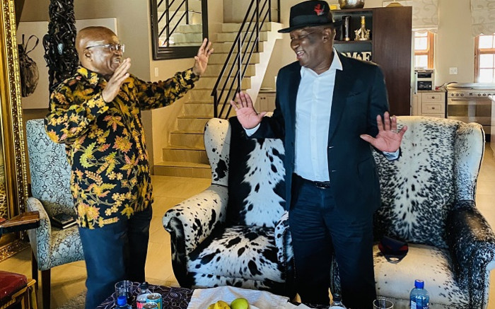 Jacob Zuma and Bheki Cele